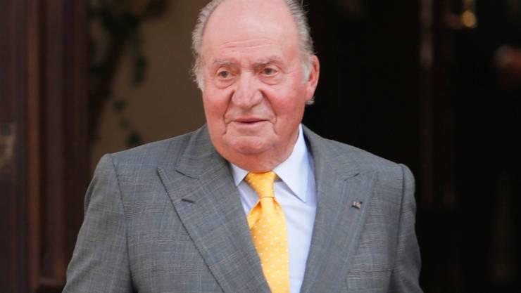 ARCHIV - Juan Carlos, ehemaliger König von Spanien, im Jahr 2018 in Santiago de Chile. Foto: Francisco Flores Seguel/Agencia Uno/dpa