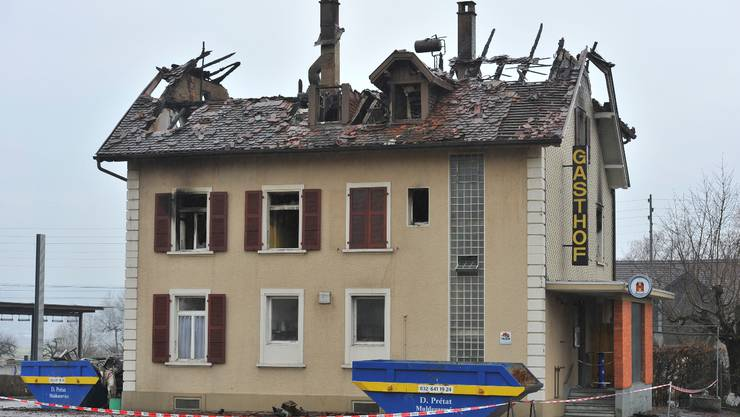 Das «Bahnhöfli» in Bettlach wurde komplett zerstört.