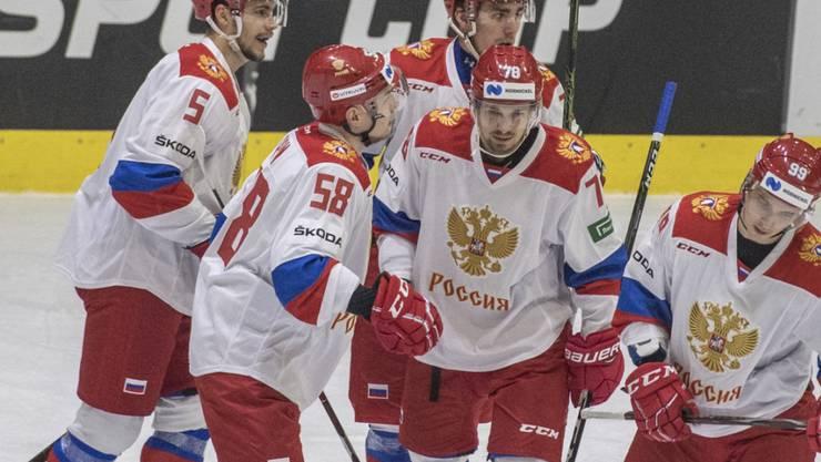 Jubel bei den Russen - sie gewinnen das Vierländerturnier in Luzern