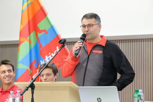 Gastgeber Martin Kaiser, Präsident von Biberist aktiv
