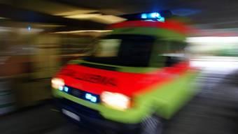Krankenwagen mit Blaulicht (Archiv)