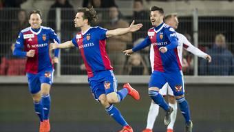 Valentin Stocker bejubelt den ersten seiner beiden Treffer in der Verlängerung
