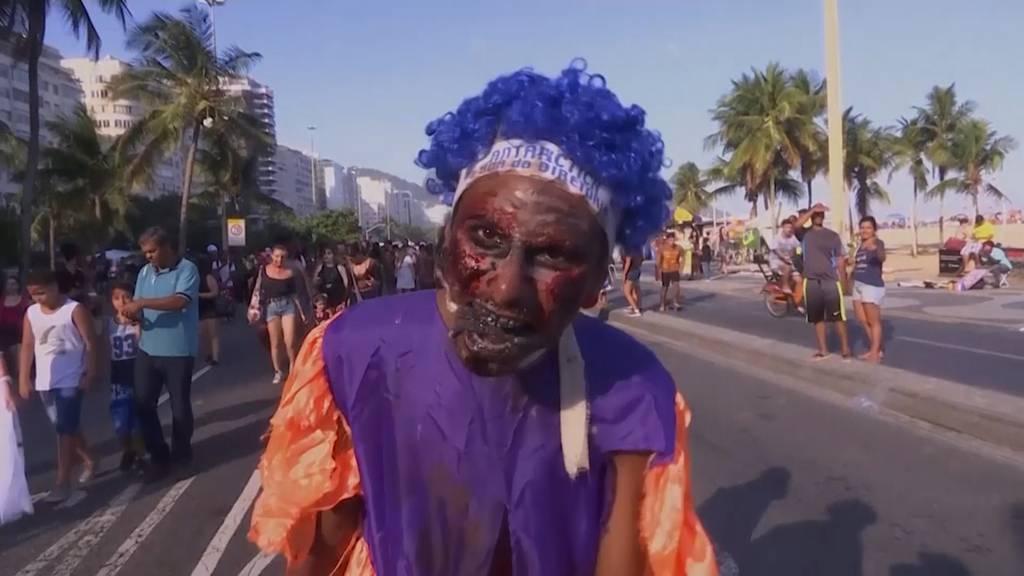 Zombie-Walk in Rio de Janeiro
