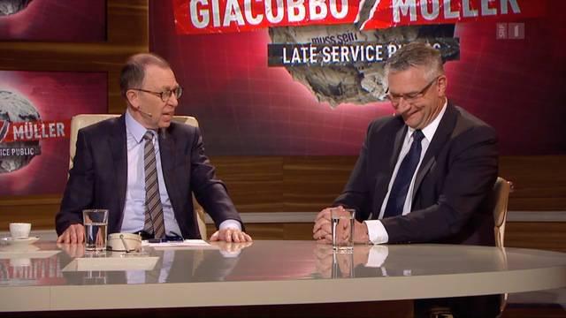 """Bald war Andreas Glarner auch Gast bei """"Giacobbo/Müller"""". In der Höhle des Löwen der Linksliberalen aus Glarner-Sicht."""