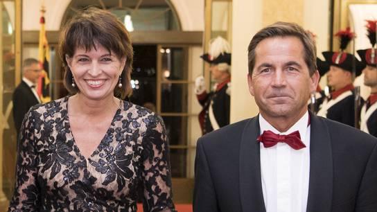 Bundesrätin Doris Leuthard und Bundeskanzler Walter Thurnherr.