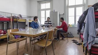 Asylbewerber in einer Aargauer Unterkunft. (Symbolbild)
