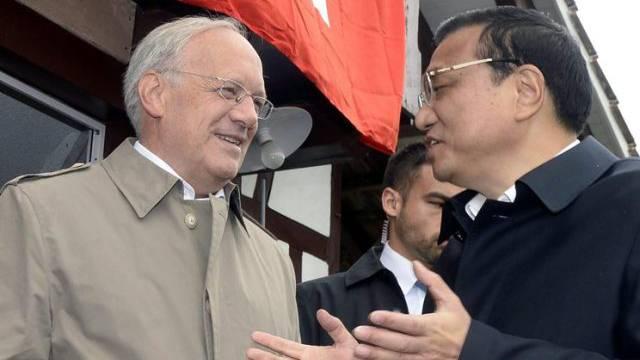 Bundesrat Schneider-Ammann mit Chinas Premier Li Keqiang