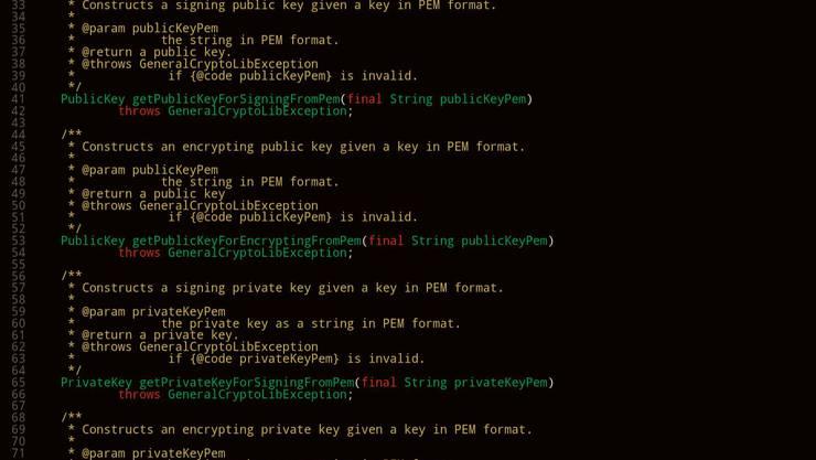 Einige von 275'000 Zeilen Java-Code, den die Post Anfang Februar veröffentlicht hat.