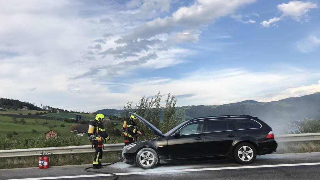 Autobahn A4 wegen Autobrand gesperrt