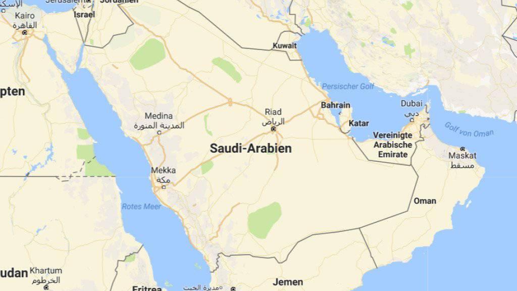 Saudi-Arabien hat nordöstlich der Hauptstadt Riad eine Rakete abgefangen. Die Huthi-Rebellen im Jemen haben sie eigenen Angaben zufolge auf den Flughafen von Riad abgefeuert.