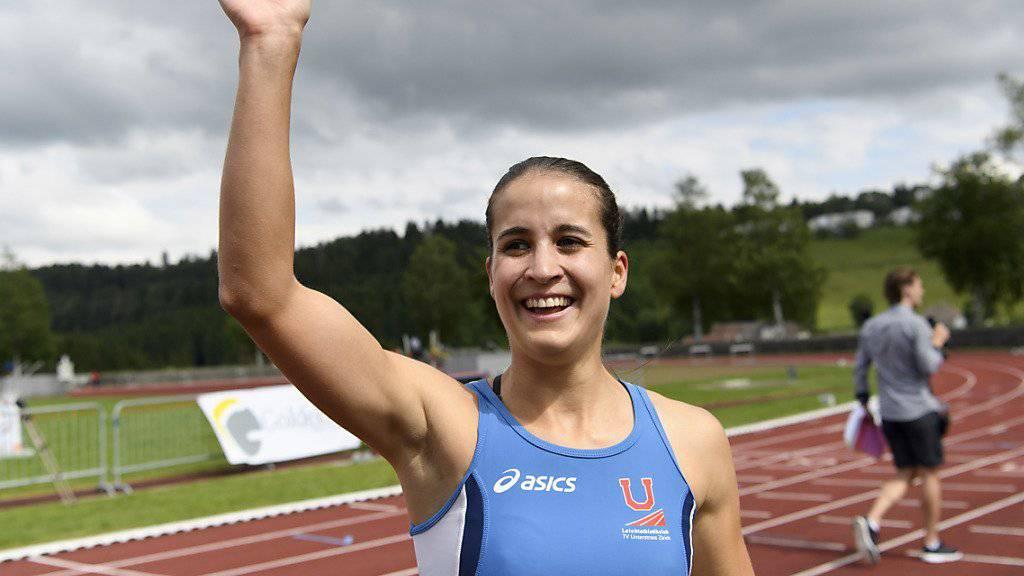 Hürdenläuferin Petra Fontanive freut sich darüber, dass sie die Reise an die Olympischen Spiele planen kann