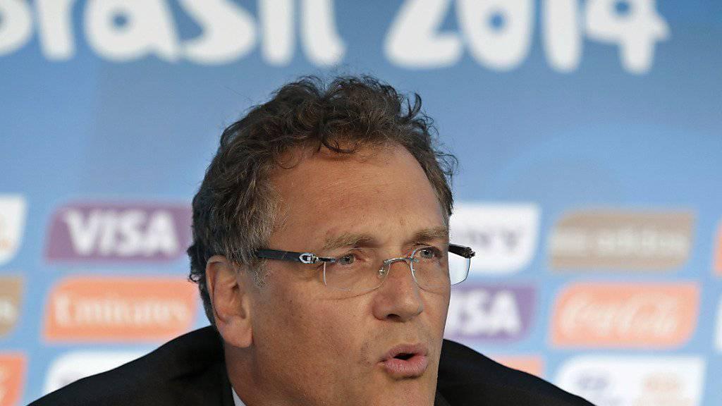 Ex-Fifa-Generalsekretär Jérôme Valcke ist zehn Jahre lang für alle nationalen und internationalen Aktivitäten im Zusammenhang mit Fussball gesperrt. (Archivbild)
