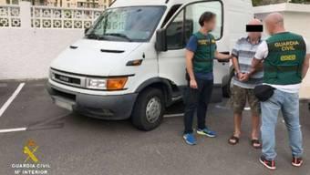 Polizisten verhafteten den 73-jährigen Italiener in Teneriffa.