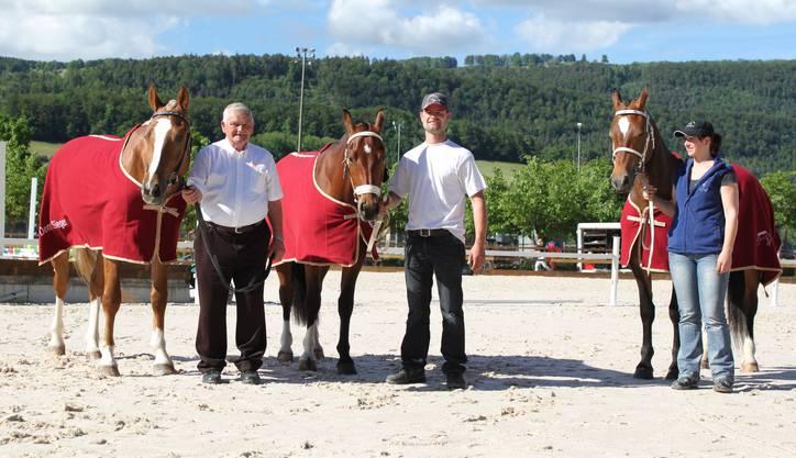 Die Ränge eins bis drei, Willy Geiser, Samuel Müller und Sophie Froidevaux