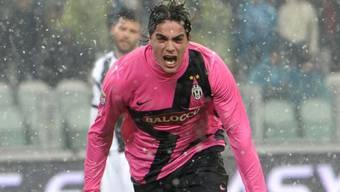 Juventus' Doppeltorschütze Alessandro Matri.