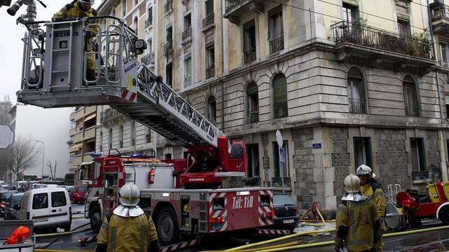 Grosseinsatz der Feuerwehr in Genf