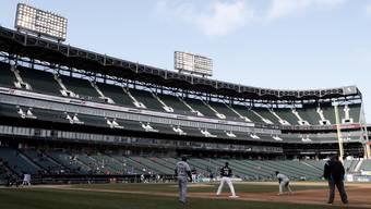 Leeres Stadion beim Spiel der Chicago White Sox