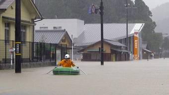 """Überschwemmungen wegen Taifun """"Talas"""" in Japan"""