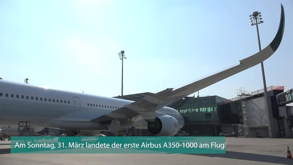 Flughafen Zürich heisst Airbus A350-1000 willkommen