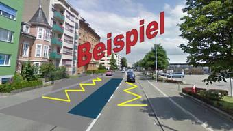 Die geplante neue gegenseitige Busführung, hier am Beispiel der Reinacherstrasse, löst im Quartier breites Entsetzen aus.