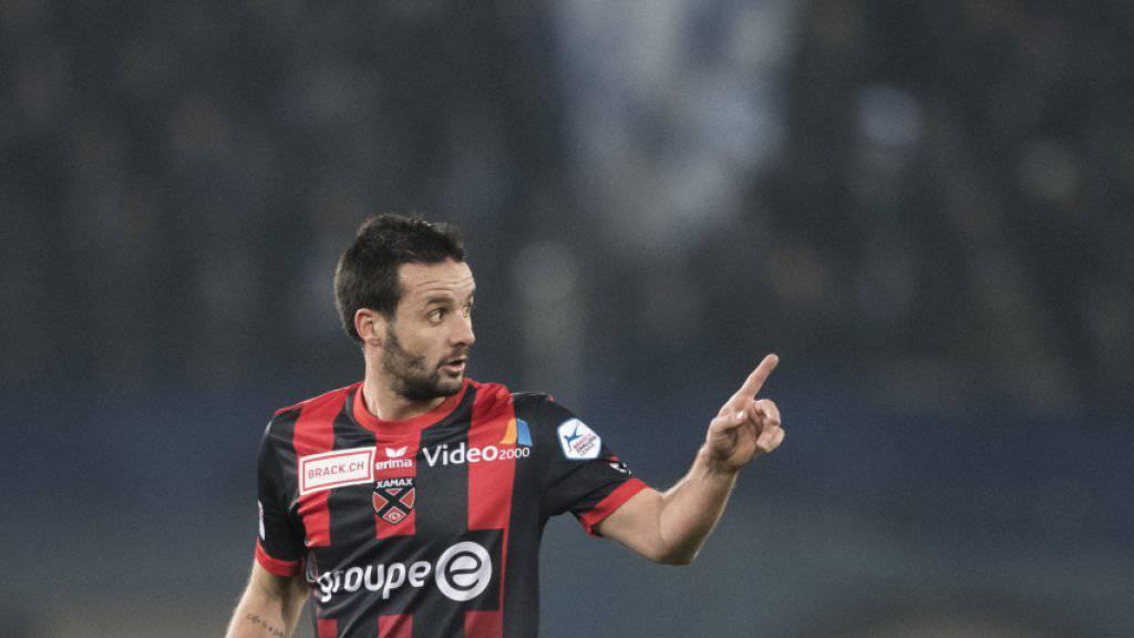 Xamax' Torschütze vom Dienst: Raphaël Nuzzolo (34) erzielte in Vaduz seine Saisontore Nummer 6, 7 und 8