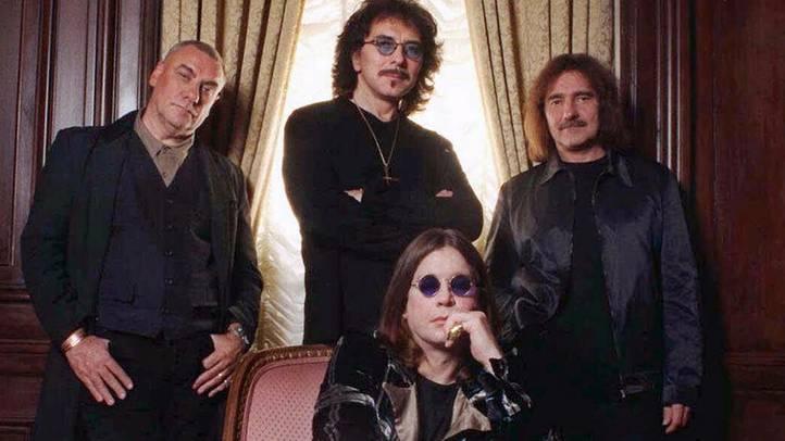 Black Sabbath mit Ozzy Osbourne, vorne.