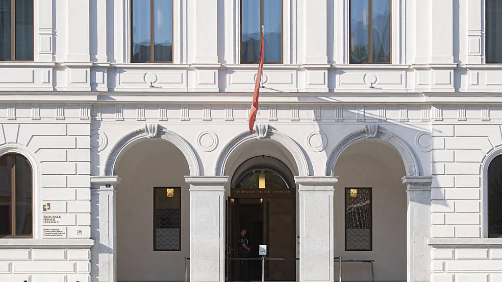 Der Eingang des Bundesstrafgerichts in Bellinzona. (Archivbild)