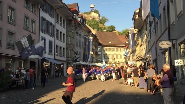 Jugendfest Lenzburg 2015: Impressionen vom Zapfenstreich
