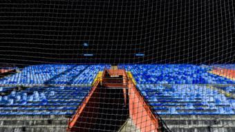 Das leere Stadion in Genua beim Duell Sampdoria gegen Hellas Verona am Sonntag