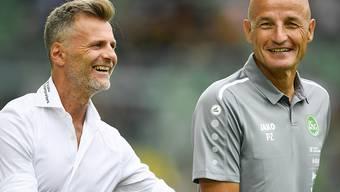 Wenn sie nur immer so gut gelaunt sein könnten: Sportchef Alain Sutter und Trainer Peter Zeidler