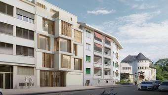 Visualisierung des Gästehauses der Universität Basel am Nonnenweg 56 in Basel.