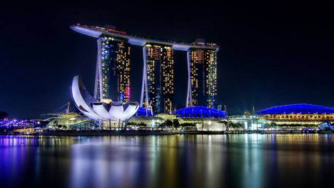 Marina Bay, Singapur.