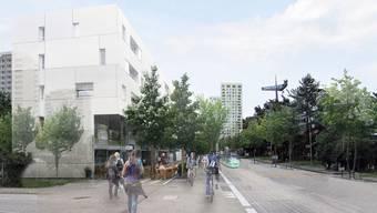 Ein positives Beispiel: Birsfelden befragt die Bewohner schon im Anfangs-Stadium zum Stadtentwicklungs-Projekt (Visualisierung: Sternenfeld-Allee mit verlängertem 3er).