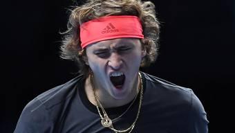 Kämpft an den ATP Finals gegen Roger Federer um den Finaleinzug: der Deutsche Alexander Zverev