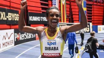 Genzebe Dibaba reisst auch den Hallenweltrekord über 3000 m an sich