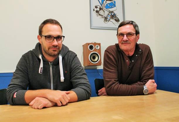 Dominik und Roland Hürner kennen die Geschichte des FC Birsfelden sehr gut.