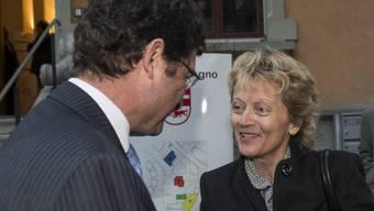 Widmer-Schlumpf mit d. Tessiner Staatsratspräsidenten Beltraminelli