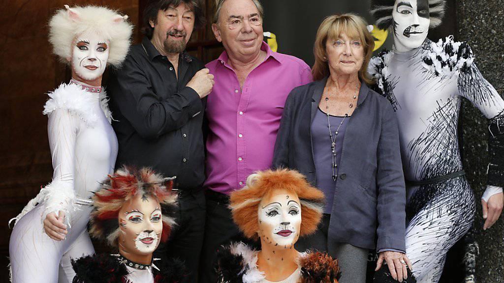 """Das Erfolgsmusical """"Cats"""" von Komponist Andrew Lloyd Webber (Mitte) kehrt nach New York zurück. (Archivbild)"""