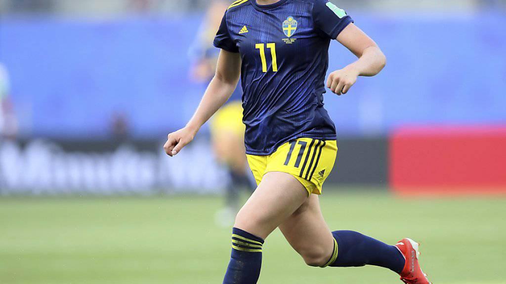 Stina Blackstenius erzielte das Siegtor für Schweden gegen Deutschland