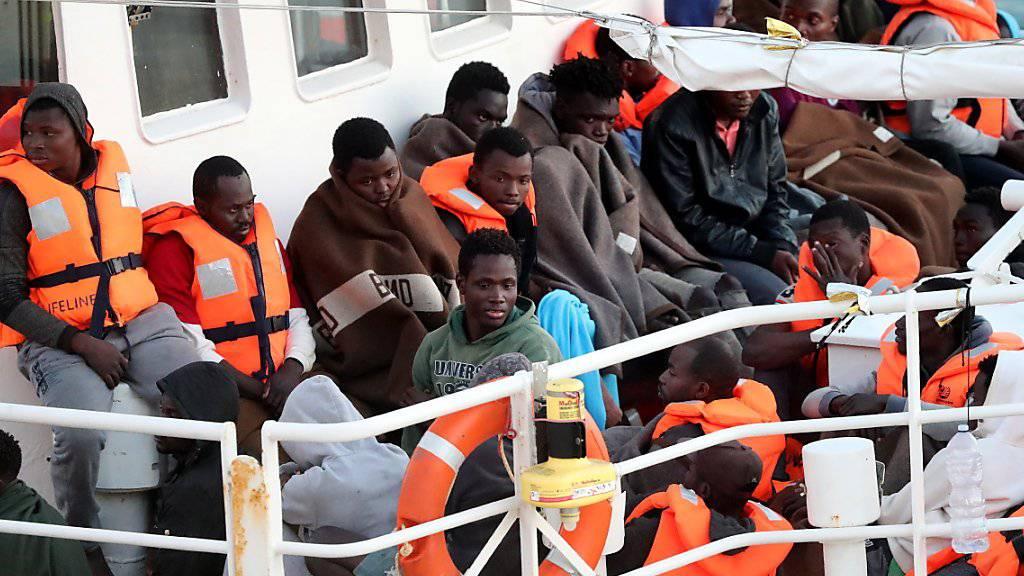"""Bei den von der """"Lifeline"""" geretteten Menschen handelt es sich vor allem um Flüchtlinge aus dem Sudan."""