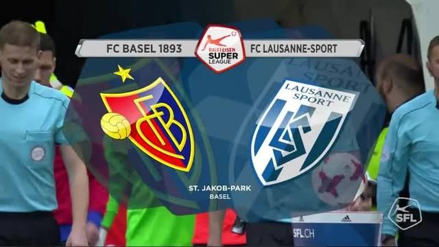 Challenge League 2016/17, 21. Runde: Basel - Lausanne