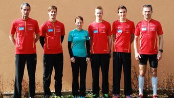 Auf dem Bild von links: Felix Schnyder, Sven Oser, Anita Appius, Ramon Schnyder, Lars Schnyder und Aeneas Appius (Manuel Jonasch auf dem Bild fehlend)