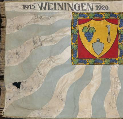 Vorderseite der ersten Vereinsfahne aus dem Jahr 1920.