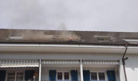 Nach Brand ist Dachwohnung vorübergehend nicht bewohnbar