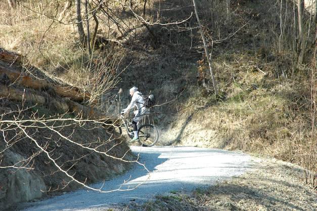 Auf schmalen Wegen am Üetliberg wird Abstand halten manchmal schwierig.