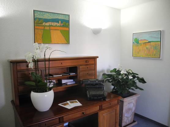 Die meisten Werke von Hermann Brodhag sind während seiner Malreisen mit Fredy Sigg entstanden und sind geprägt von sommerlichen Farben.