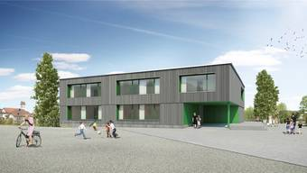 Wie auf dieser Visualisierung soll sich das neue Realschulhaus in Schinznach dereinst präsentieren. Die Stimmberechtigten haben das Geschäft nun aber zurückgewiesen.