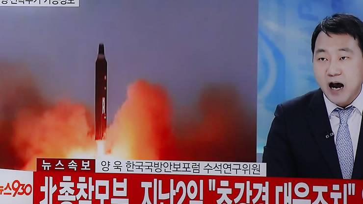 Bericht über den jüngsten Raketentest Nordkoreas in Südkorea.