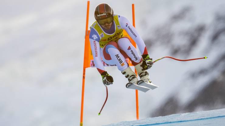 Gilles Roulin ist bis jetzt der beste Schweizer in der Kombination in Wengen.