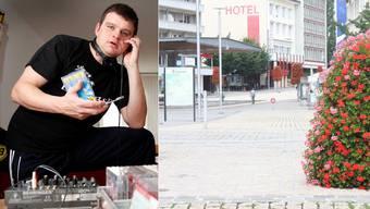 Daniel Wisard alias DJ Horse muss als einer der beiden neuen Mitarbeiter des Standtmarketings ein blumiges Bild der Stadt Grenchen zeichnen.